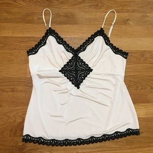 The Limited Black and Cream Cami